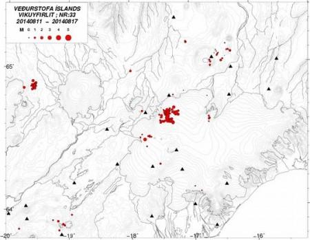 bardarbunga august 2014 earthquake swarm imo